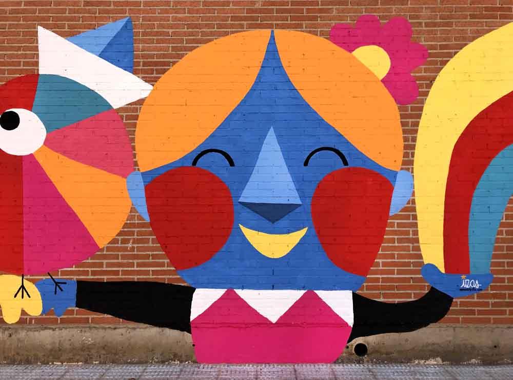 azulpatio izas mural rosa luxemburgo infantil detalle 3