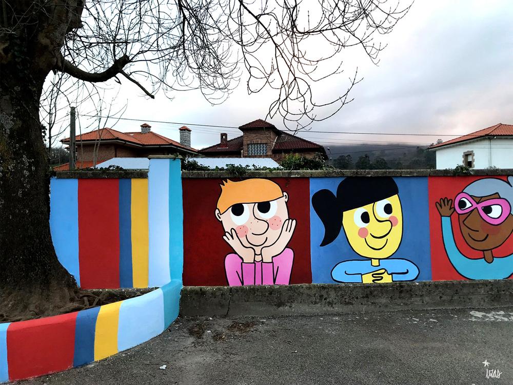mural izas azulpatio ceip gerardo diego detalle 1