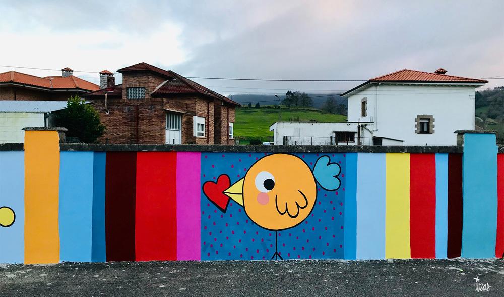 mural izas azulpatio ceip gerardo diego detalle 2
