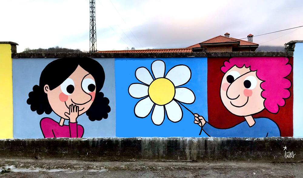 mural izas azulpatio ceip gerardo diego detalle 4