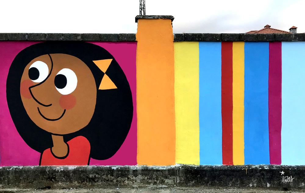 mural izas azulpatio ceip gerardo diego detalle 7