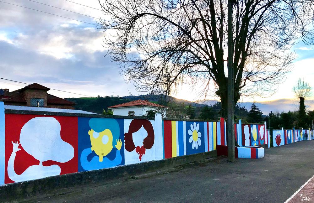 mural izas azulpatio ceip gerardo diego proceso 1