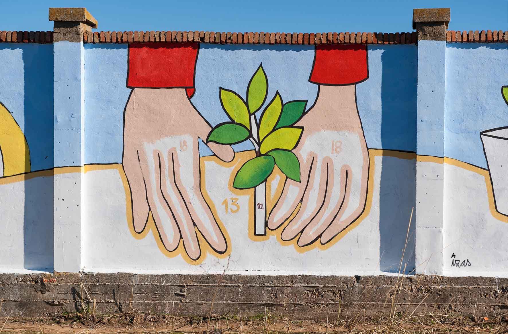mural izas bosque sueños 1