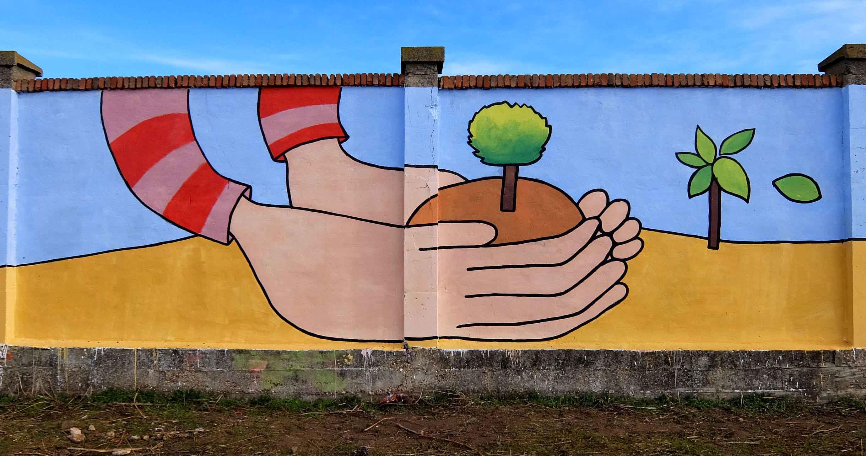 mural izas bosque sueños 8
