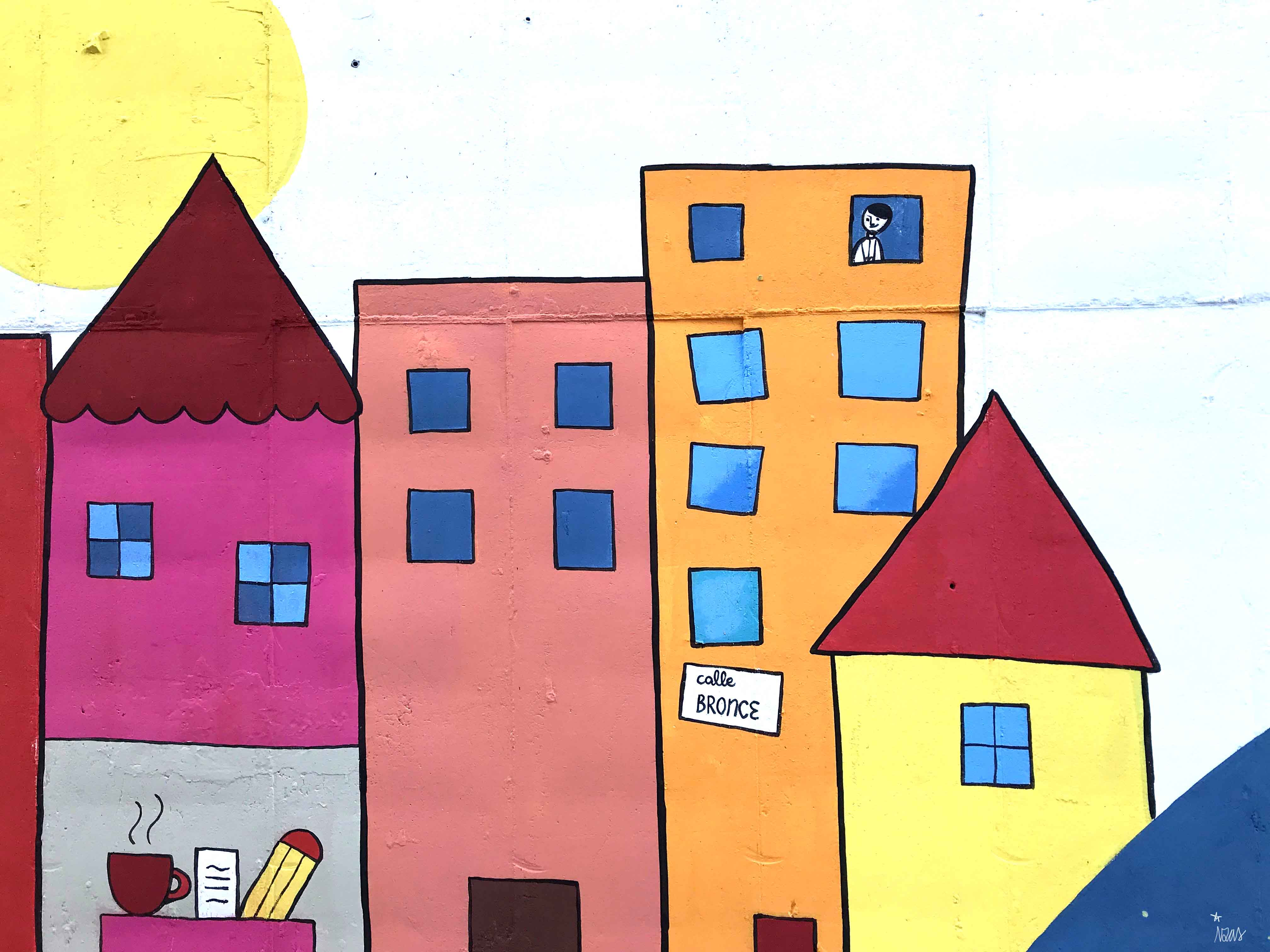 mural izas dibujando la palabra béjar 2