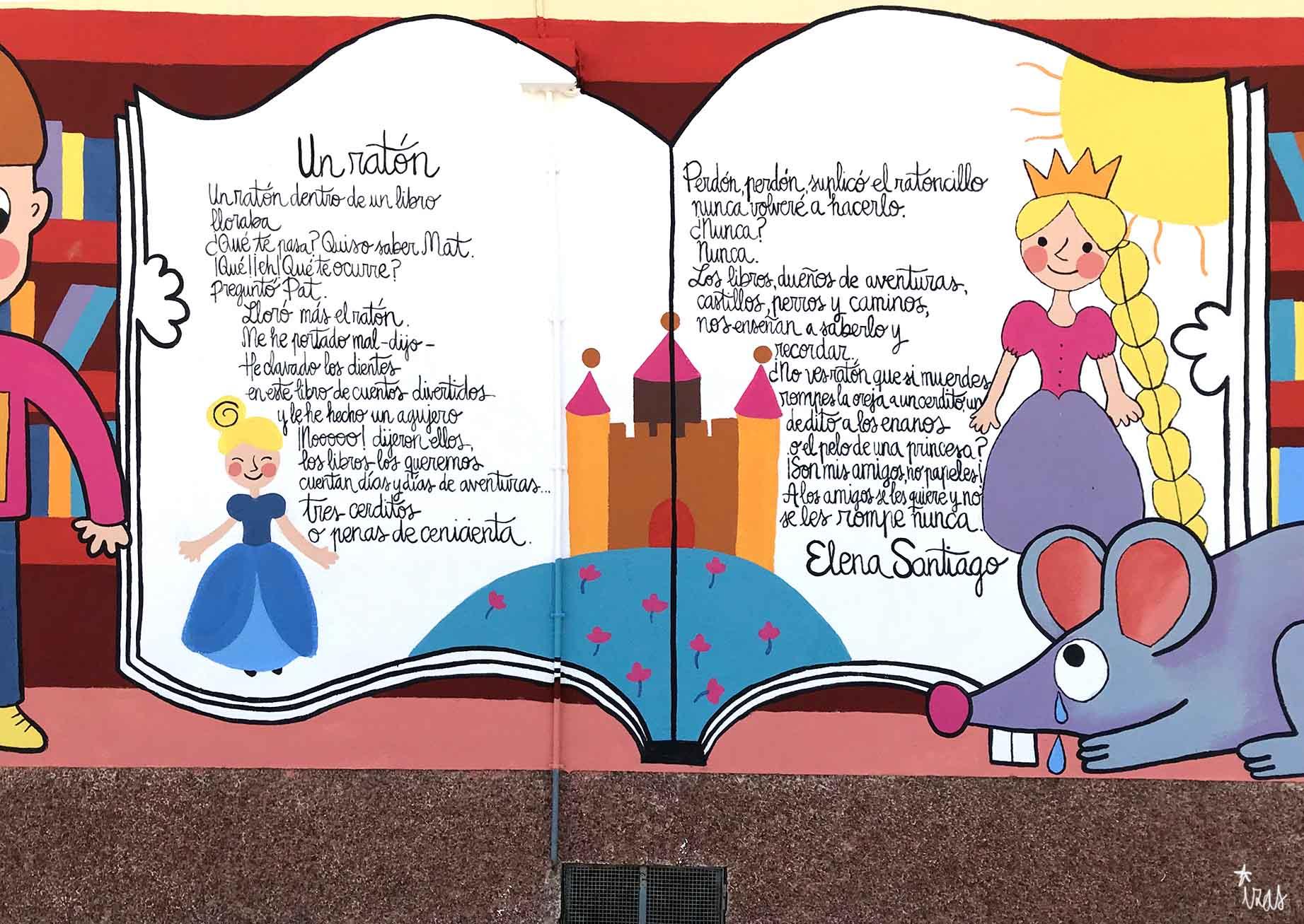 mural izas dibujando la palabra león 5