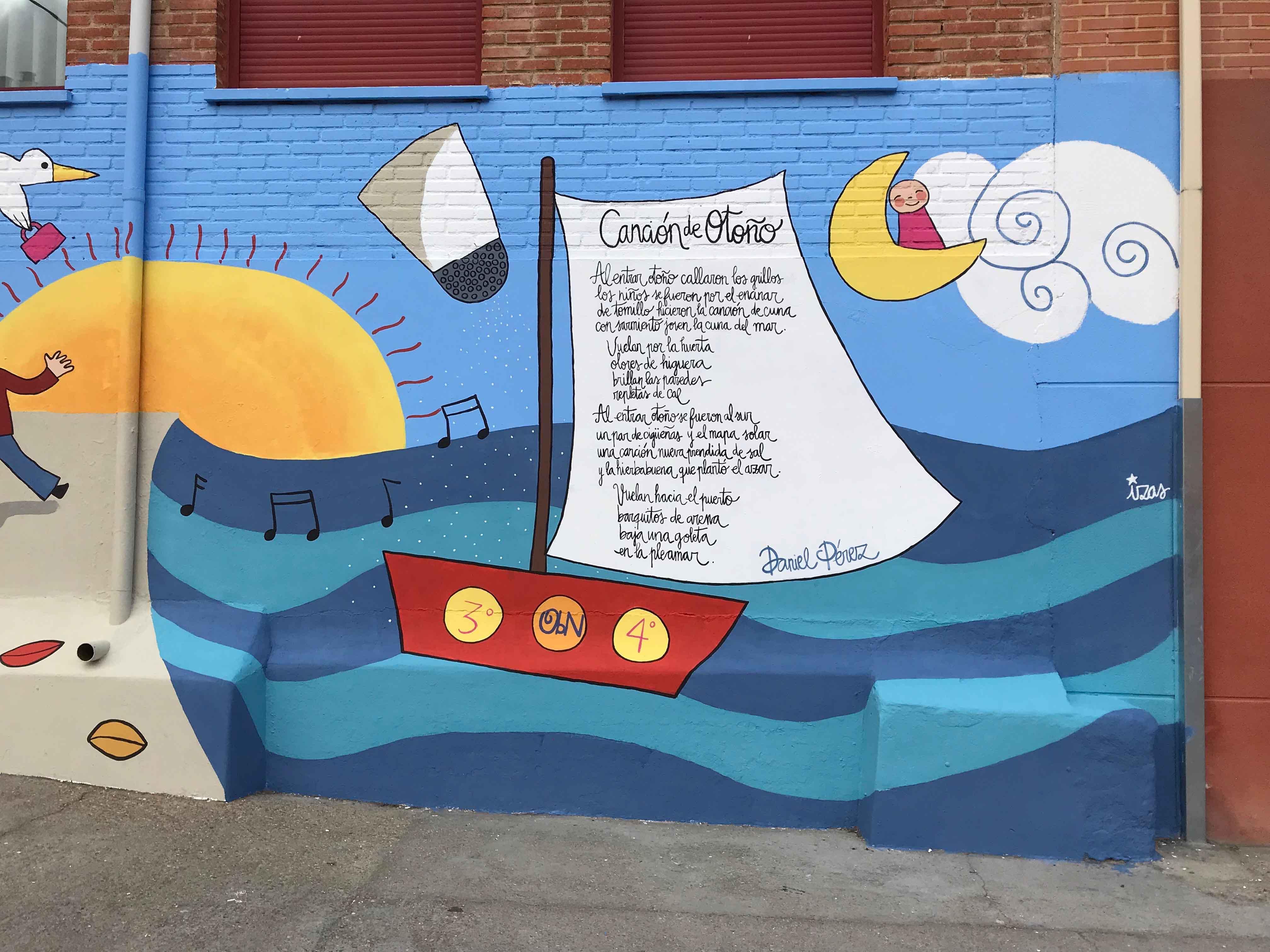 mural izas dibujando la palabra zamora 3