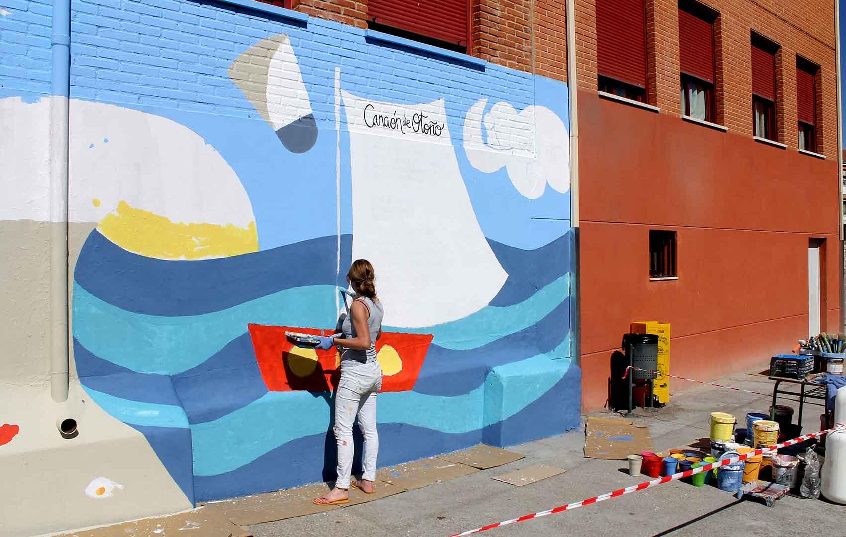 mural izas dibujando la palabra zamora 4