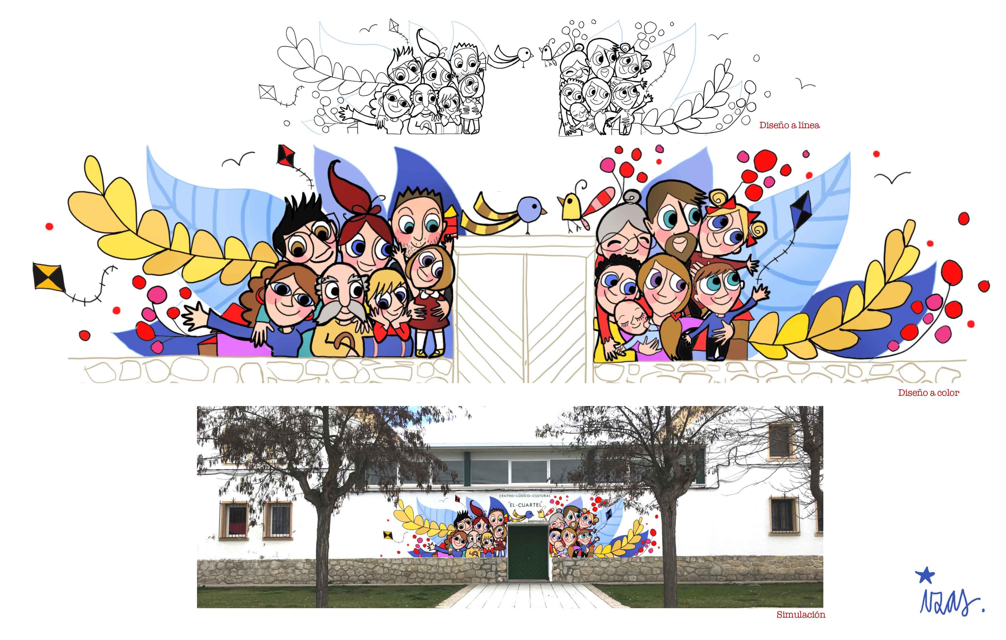 mural izas el cuartel proyecto