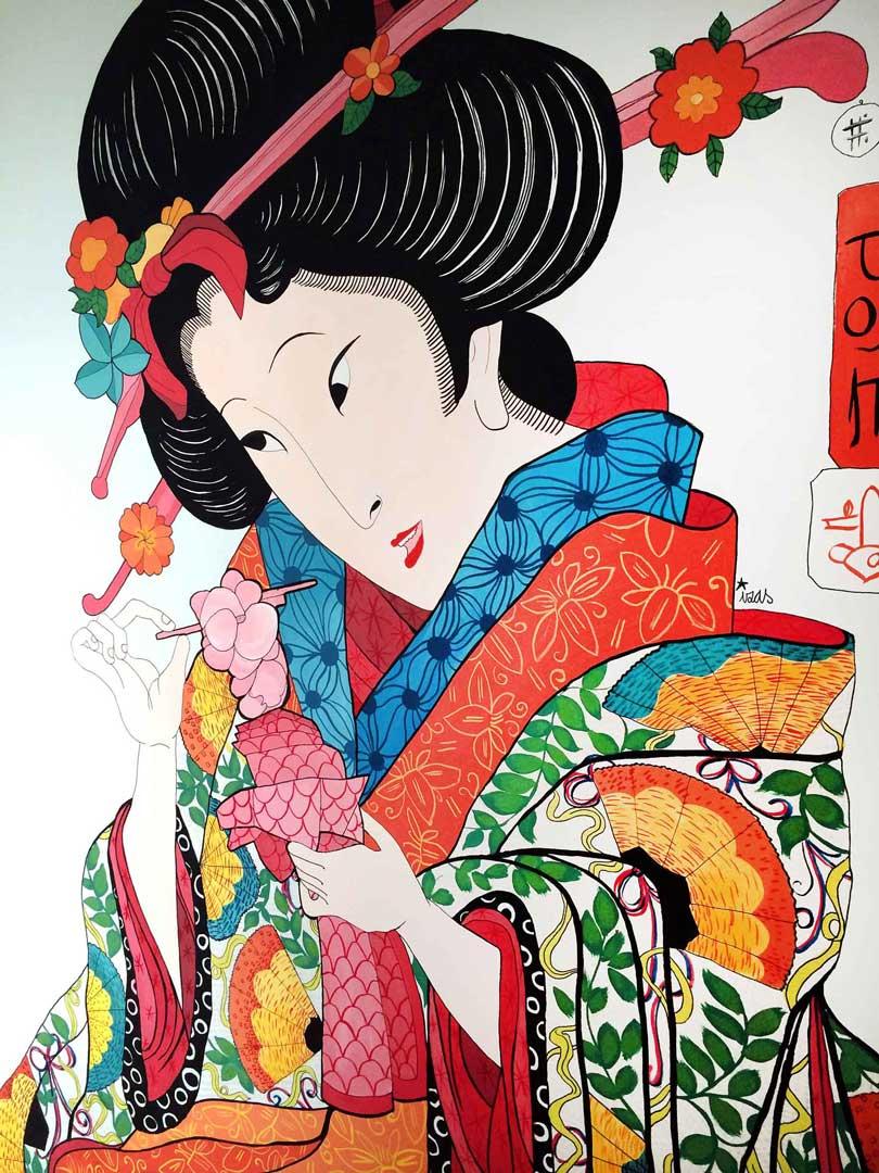 mural izas geisha 1