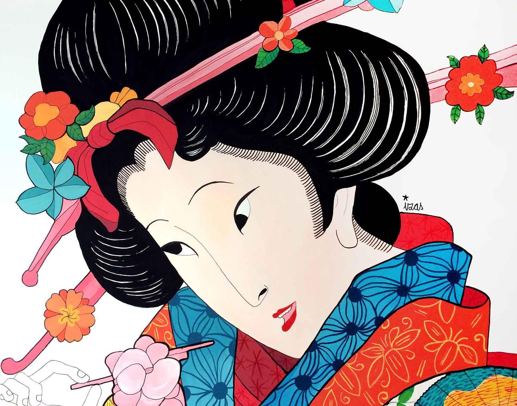 mural izas geisha 2