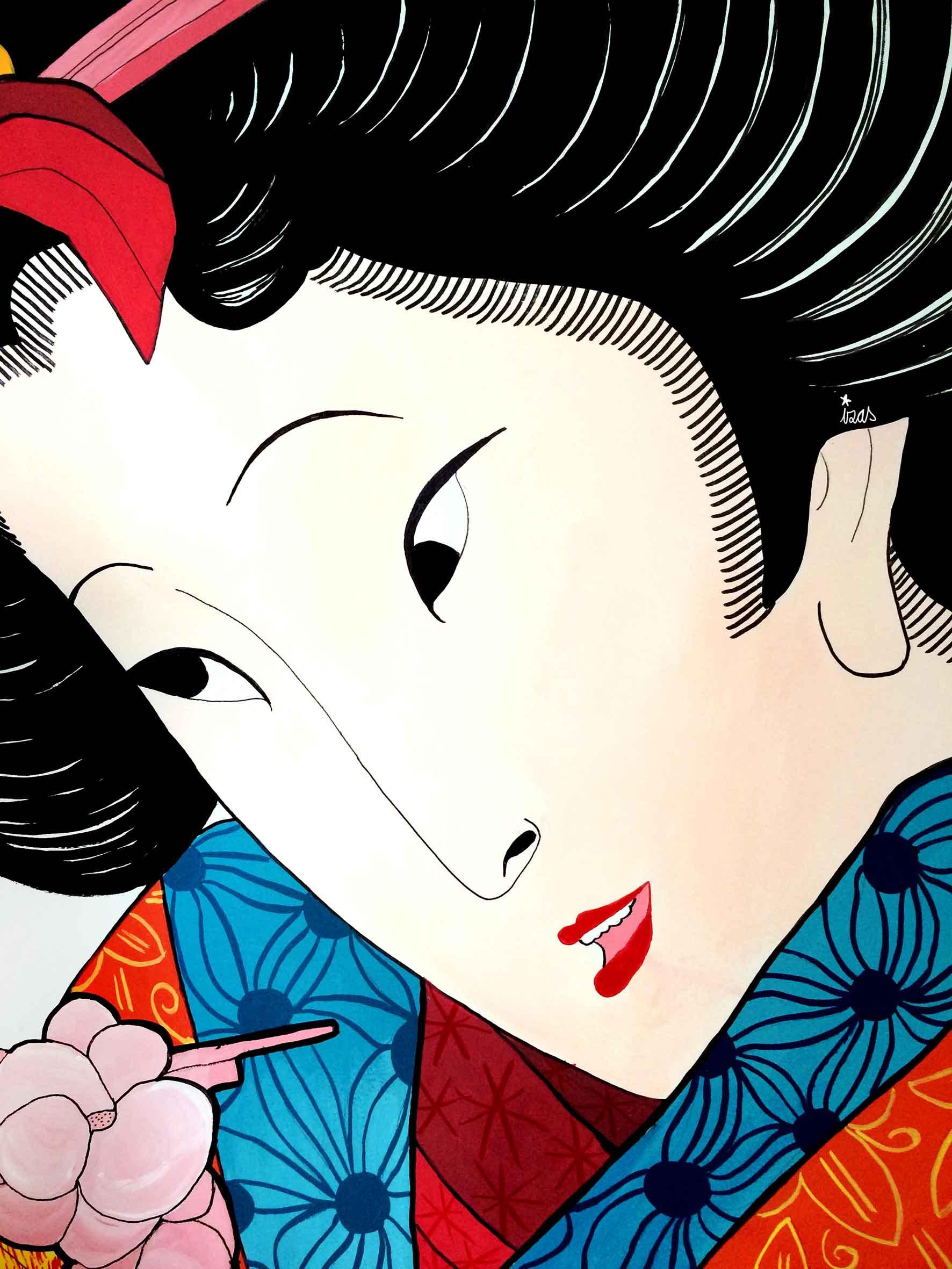 mural izas geisha 3