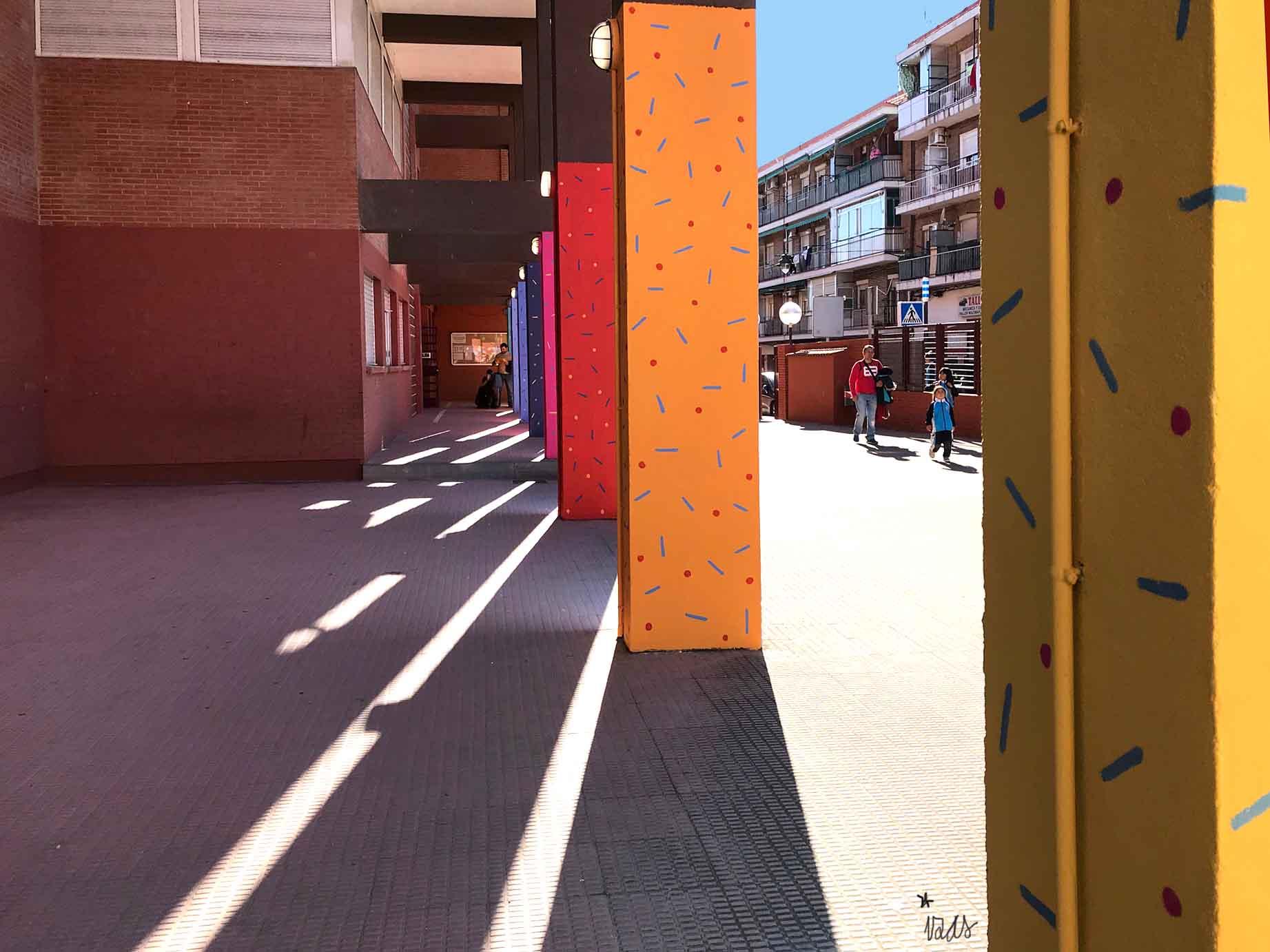 mural izas parque cataluña 1