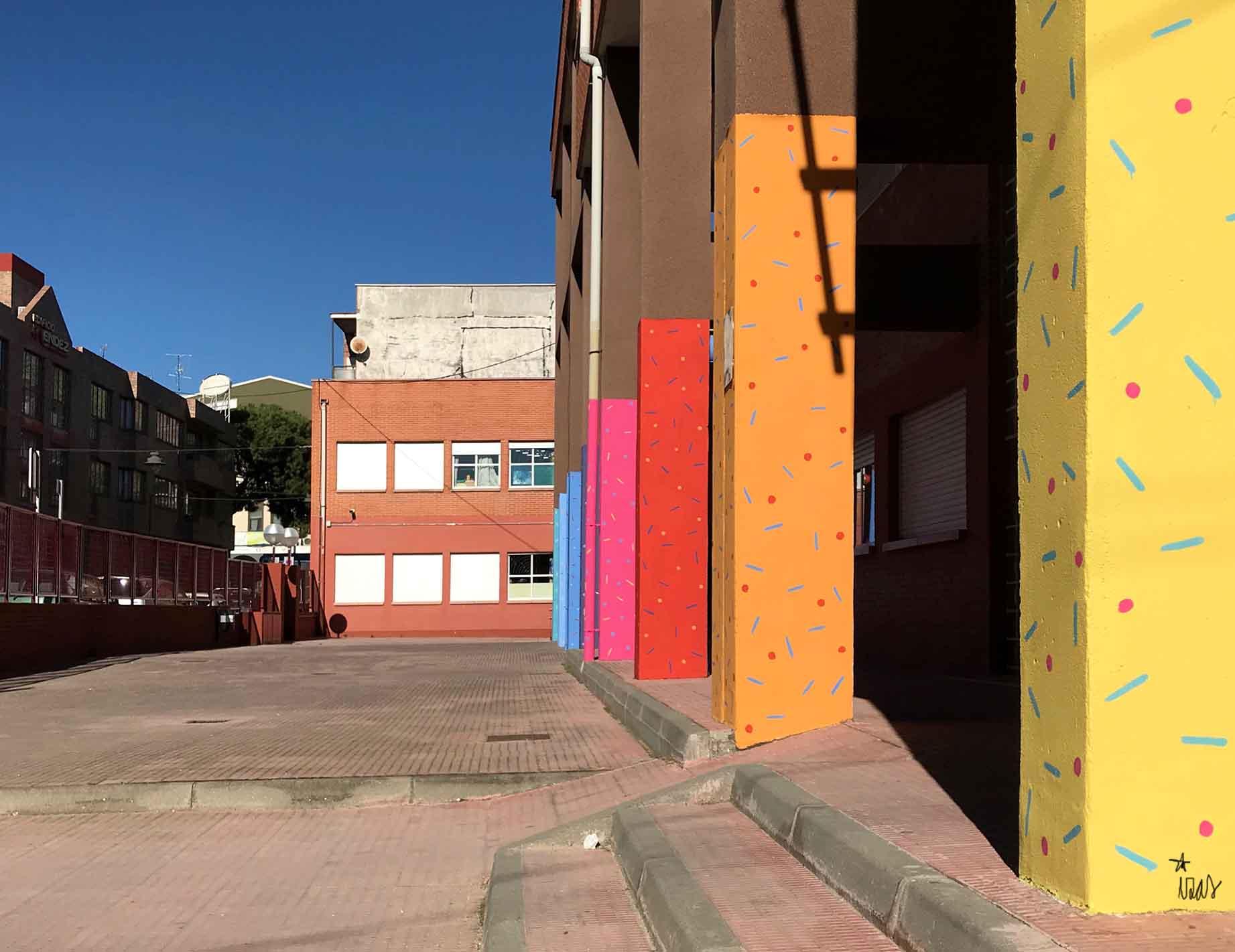 mural izas parque cataluña 2