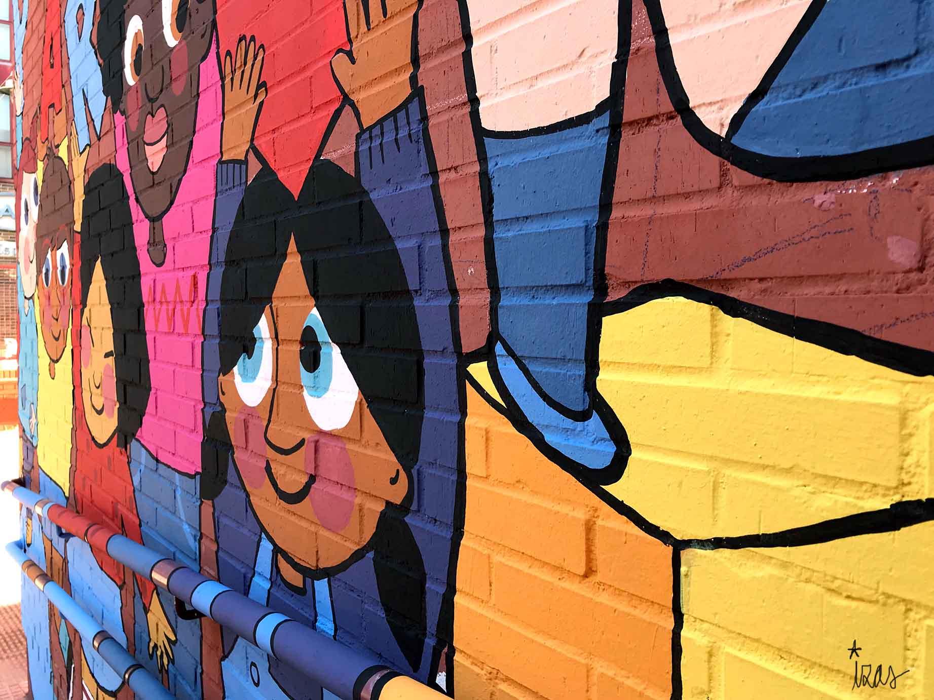 mural izas parque cataluña 4