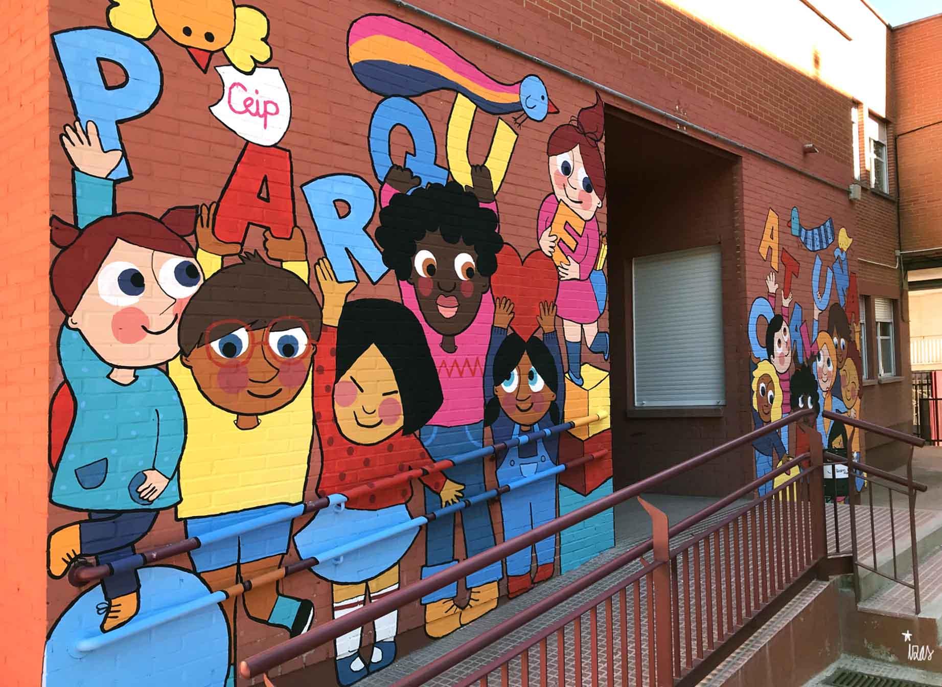 mural izas parque cataluña 6