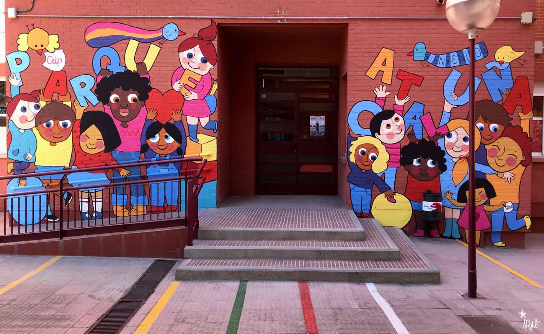 mural izas parque cataluña 7
