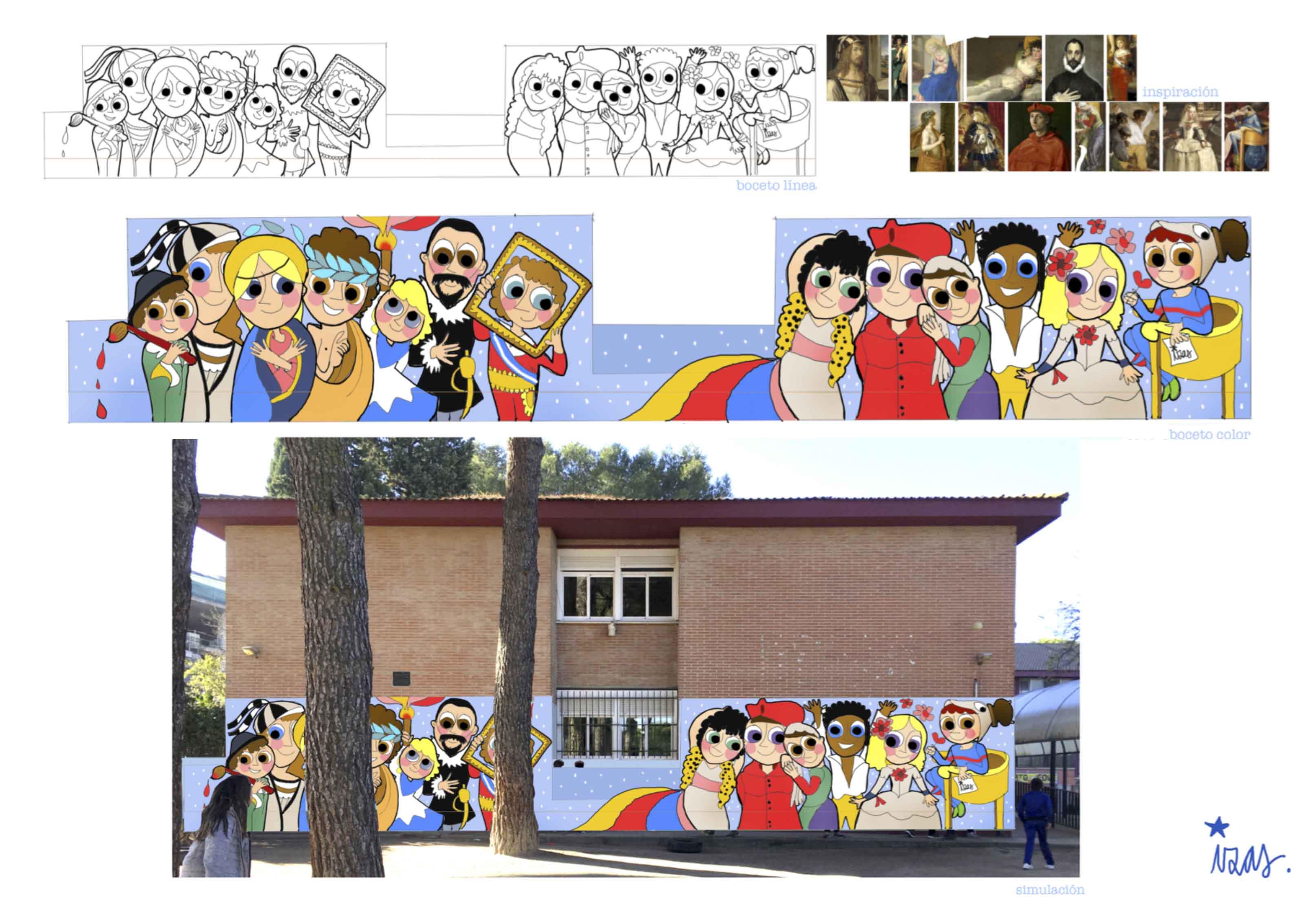 mural izas pinar prados primaria proyecto