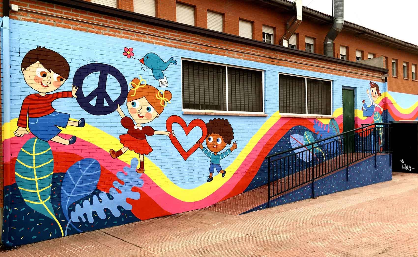 mural izas rosa luxemburgo primaria 3