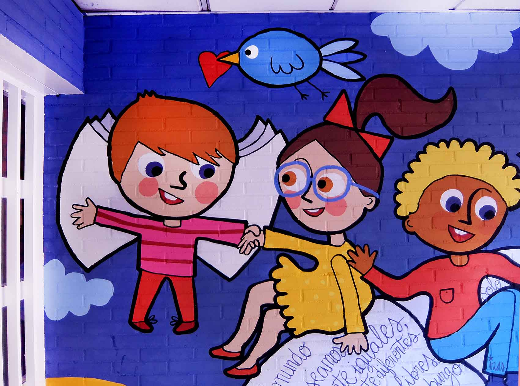 mural izas rosa luxemburgo robótica y biblioteca 3