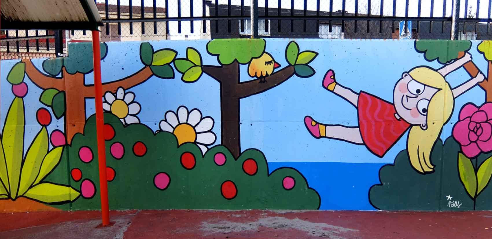 mural izas tierno galván infantil 2