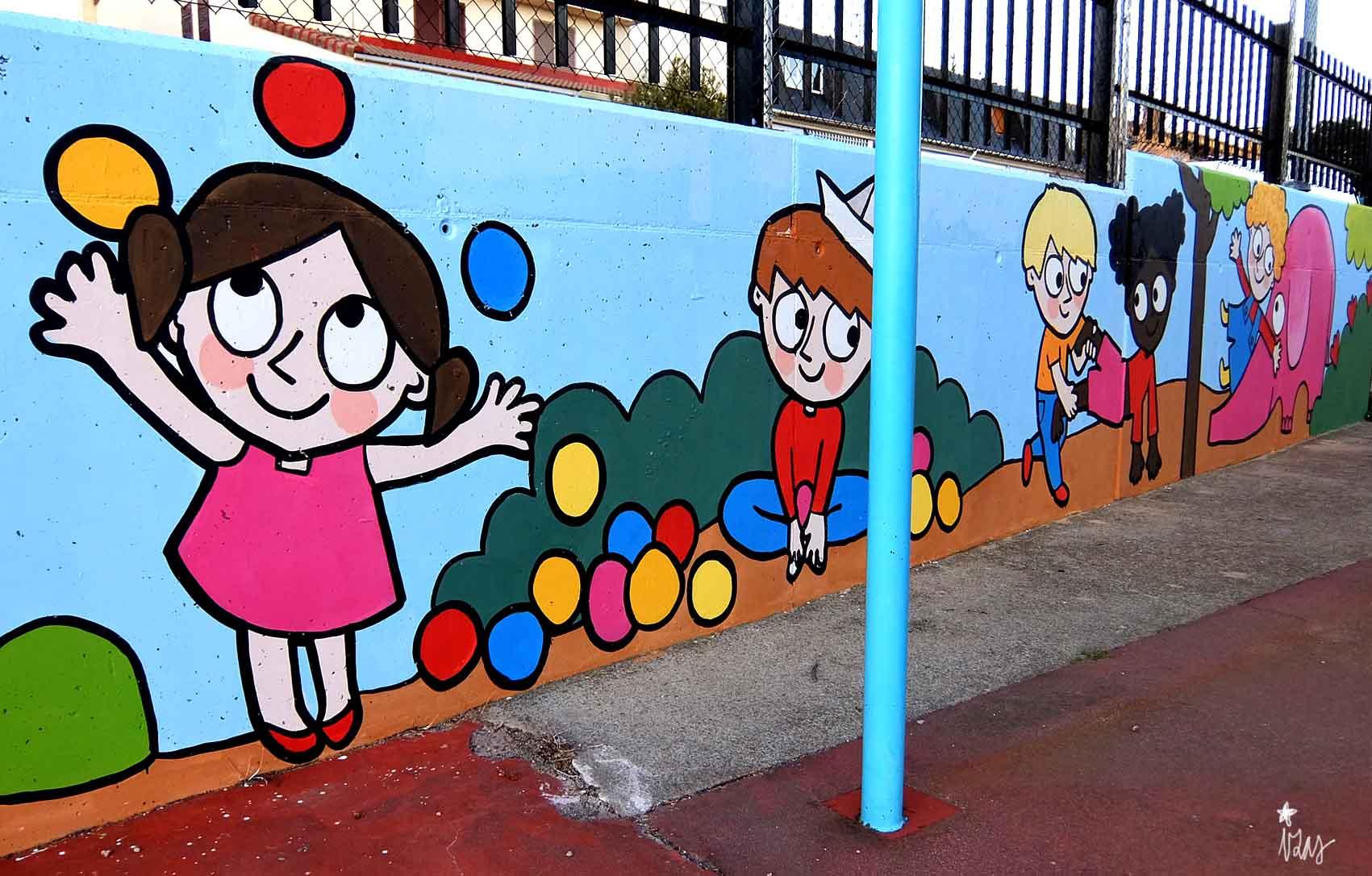 mural izas tierno galván infantil 3