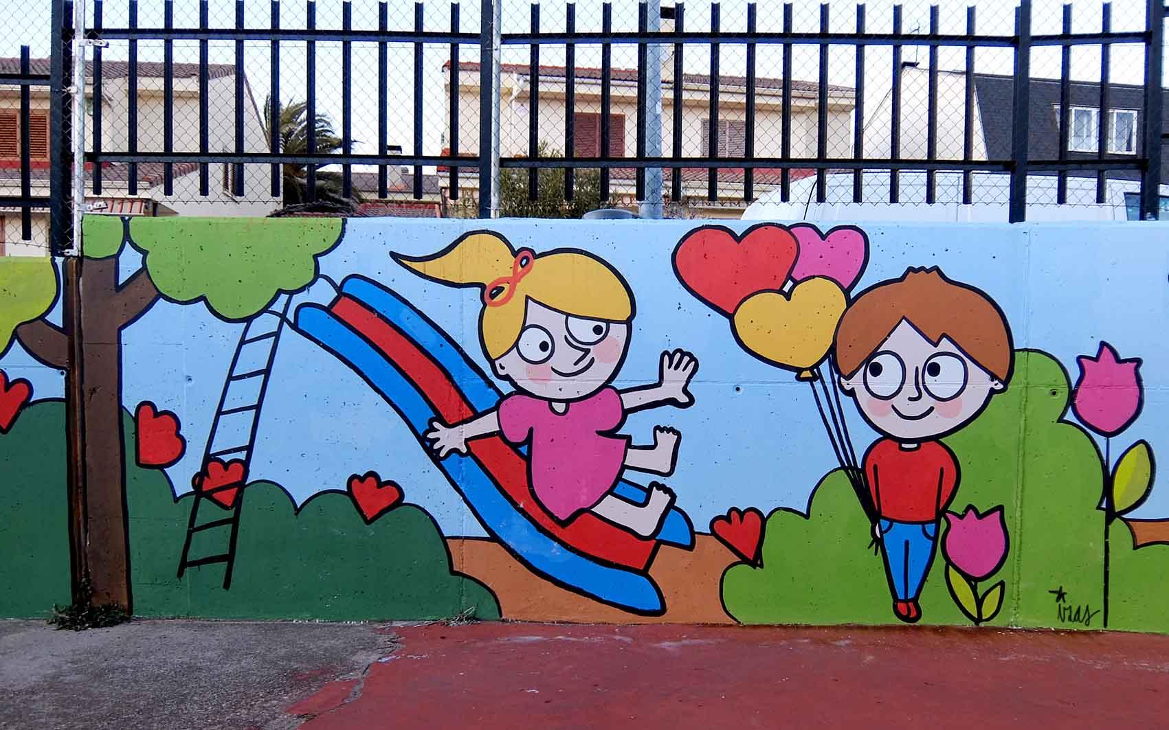 mural izas tierno galván infantil 6