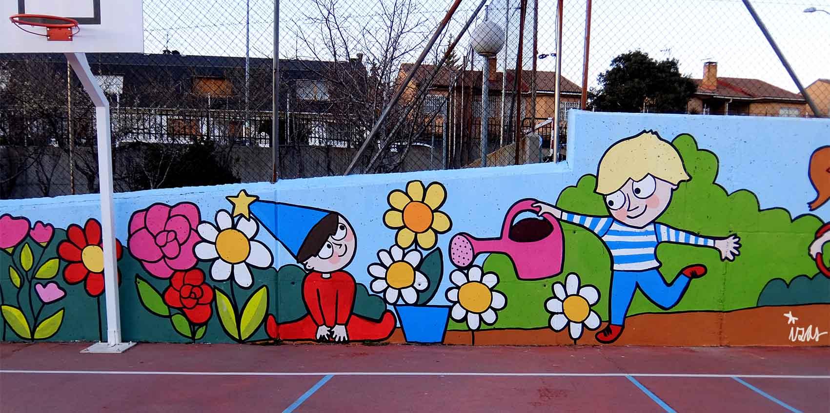 mural izas tierno galván multiusos 2