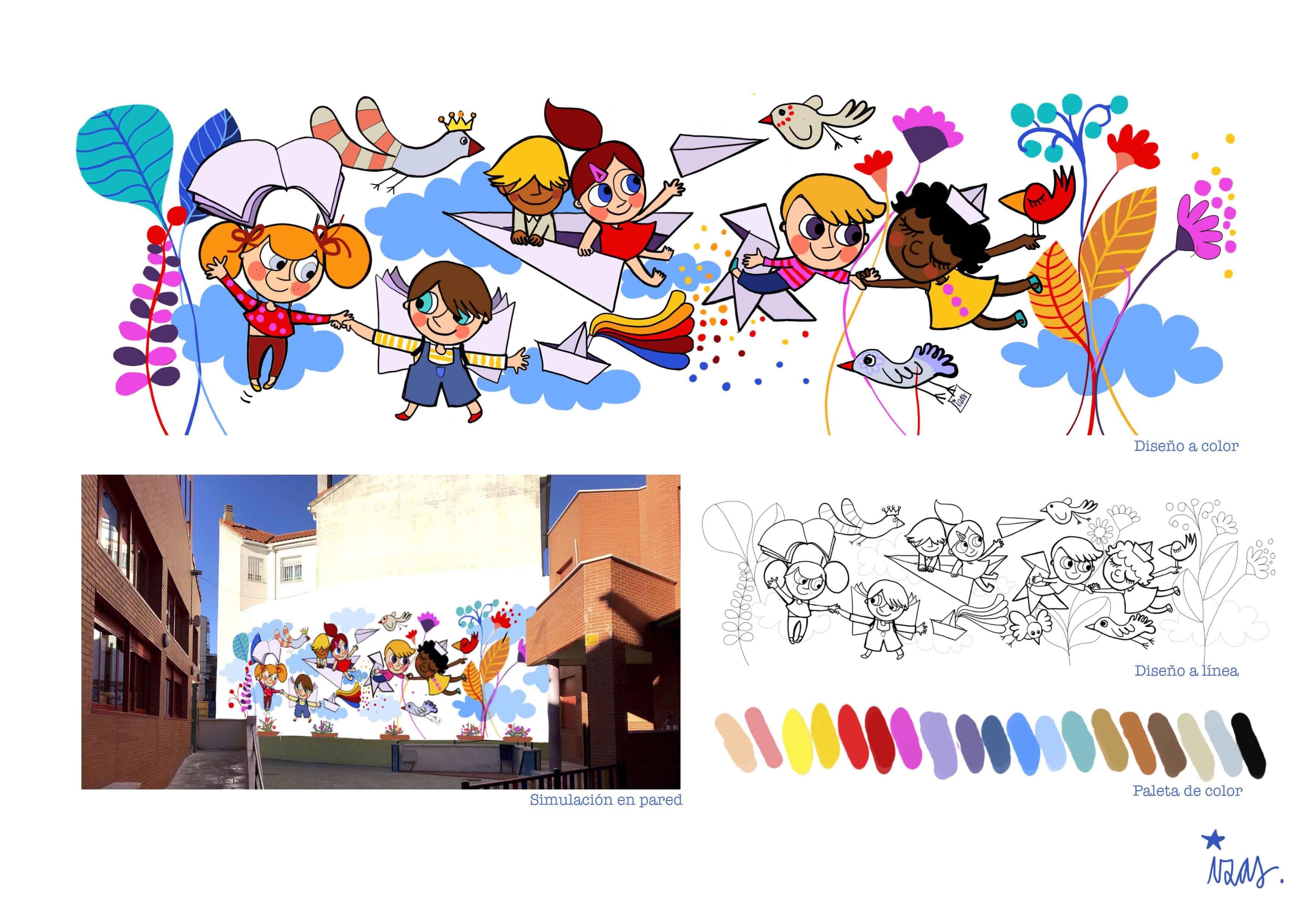 mural izas virgen de los remedios proyecto
