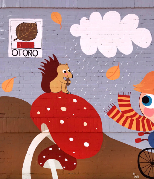 mural izas azulpatio cee fuenteminaya otoño detalle 3