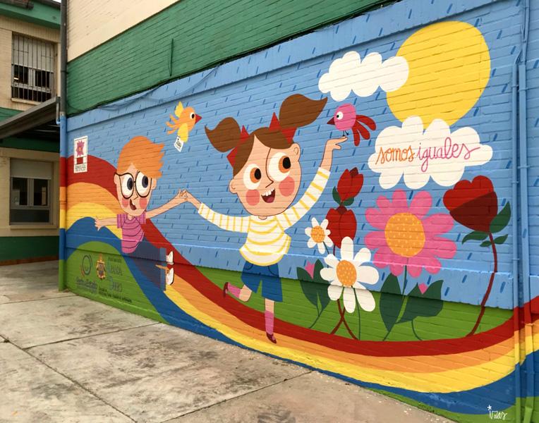 mural izas azulpatio cee fuenteminaya primavera derecha 2