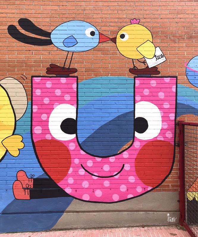 azulpatio izas mural josé bergamín detalle u