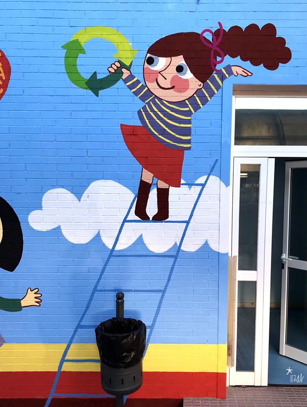 mural azulpatio izas josé bergamín valores detalle 2