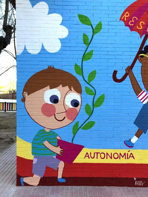 mural azulpatio izas josé bergamín valores detalle 3