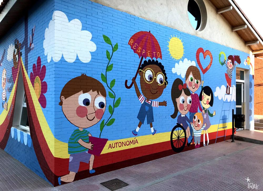 mural azulpatio izas josé bergamín valores detalle 6