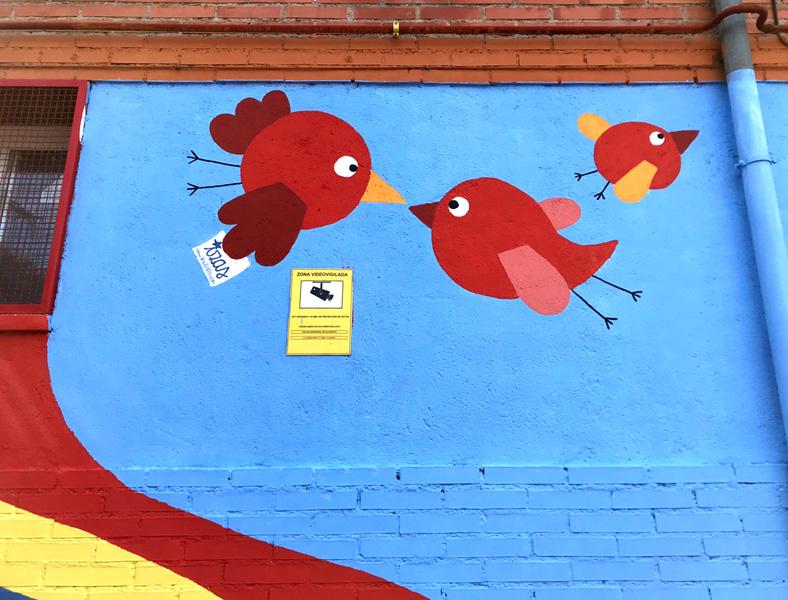 mural izas azulpatio ceip federico garcía lorca alcorcón detalle 1