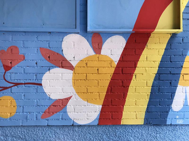 mural izas azulpatio ceip federico garcía lorca alcorcón detalle 10