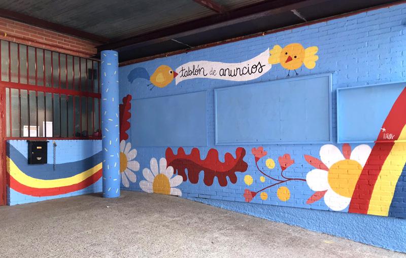 mural izas azulpatio ceip federico garcía lorca alcorcón detalle 11
