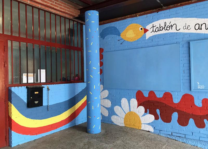 mural izas azulpatio ceip federico garcía lorca alcorcón detalle 13