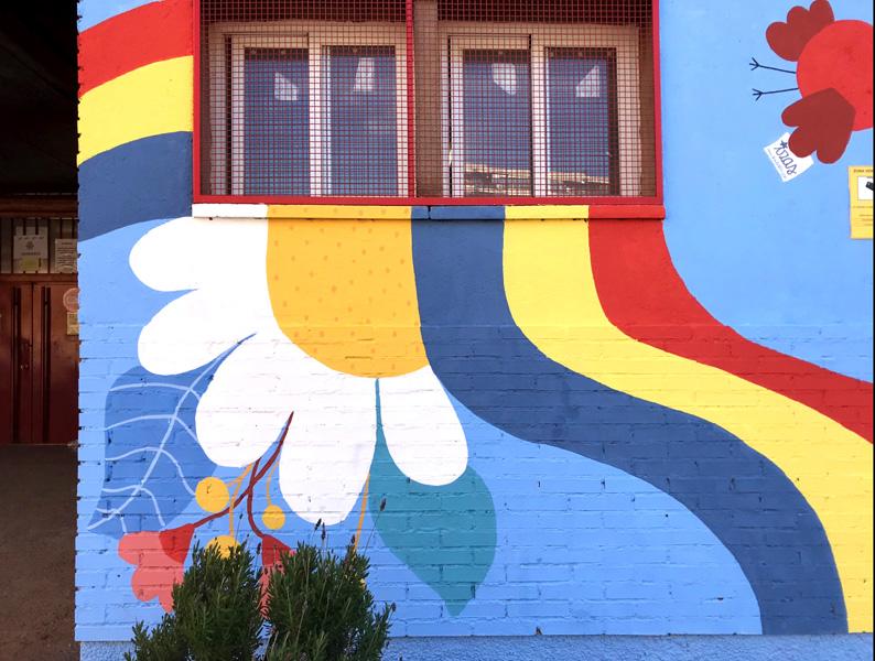 mural izas azulpatio ceip federico garcía lorca alcorcón detalle 3