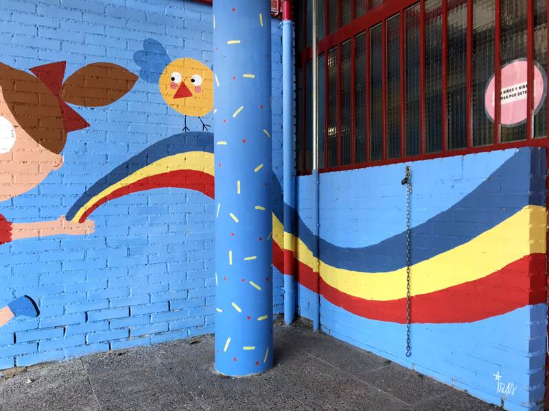 mural izas azulpatio ceip federico garcía lorca alcorcón detalle 4