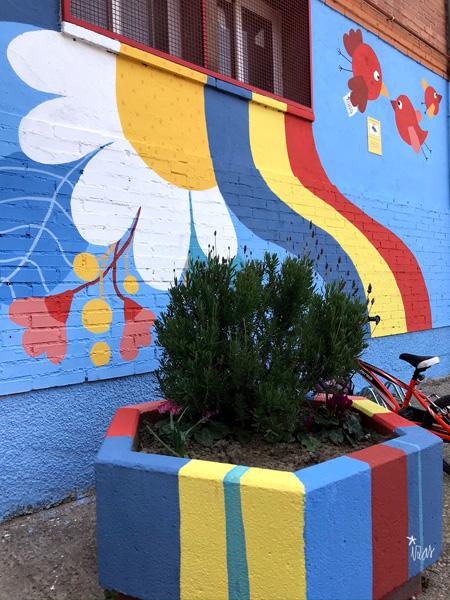mural izas azulpatio ceip federico garcía lorca alcorcón detalle 5