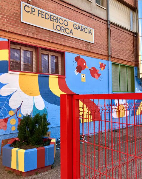 mural izas azulpatio ceip federico garcía lorca alcorcón detalle 7
