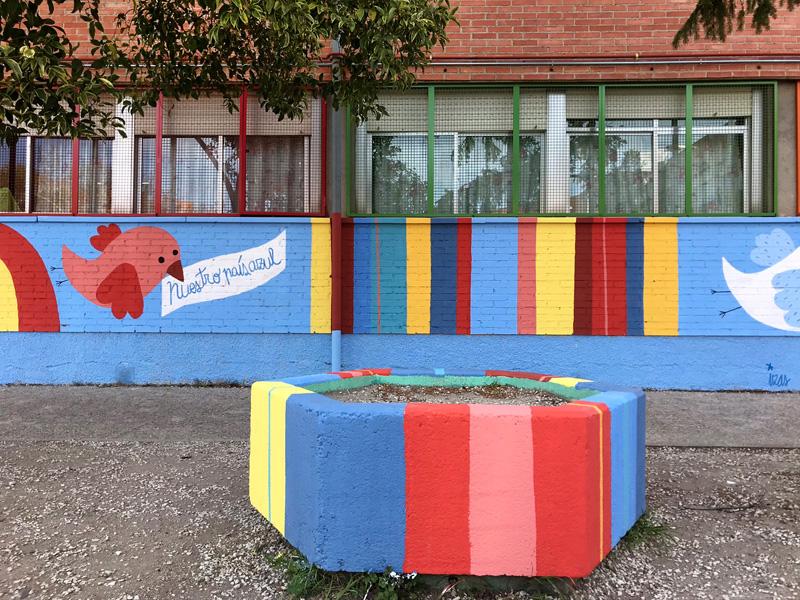 mural izas azulpatio ceip federico garcía lorca alcorcón detalle 8
