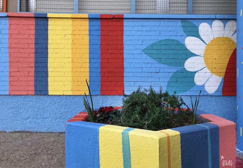 mural izas azulpatio ceip federico garcía lorca alcorcón detalle 9