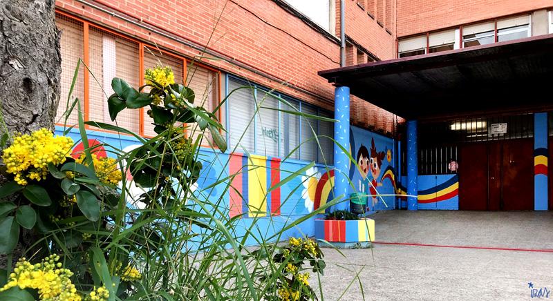 mural izas azulpatio ceip federico garcía lorca alcorcón pano 2