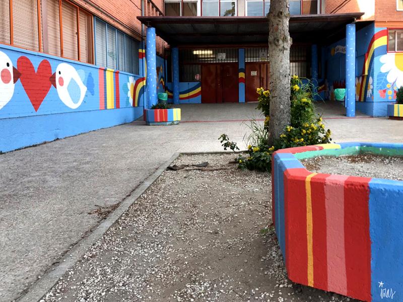 mural izas azulpatio ceip federico garcía lorca alcorcón pano 3