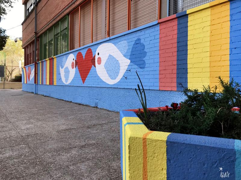 mural izas azulpatio ceip federico garcía lorca alcorcón pano 4