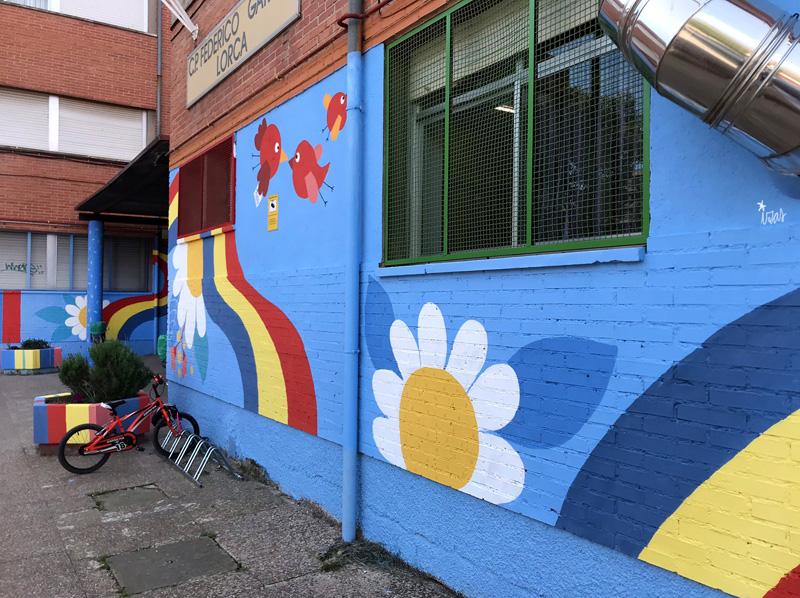 mural izas azulpatio ceip federico garcía lorca alcorcón pano 6