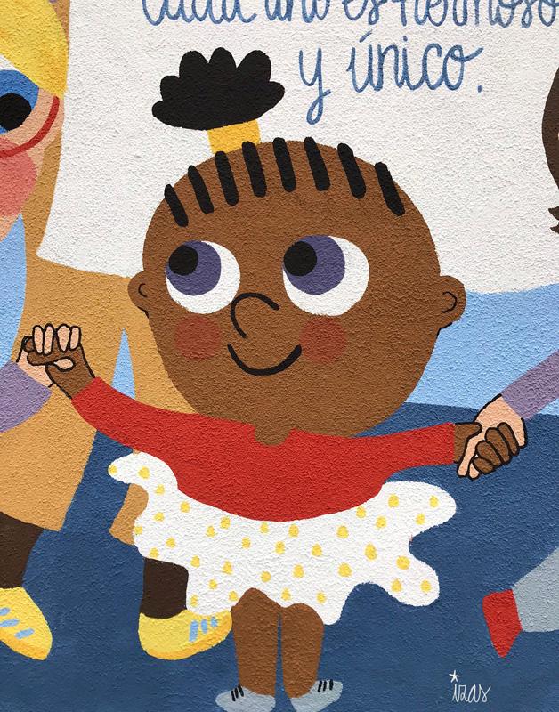 mural izas azulpatio ceip nueva segovia detalle 15
